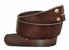 Brown Genuine Cow Leather Snap on Belt Strap Men's 38 L Removable Western Gift