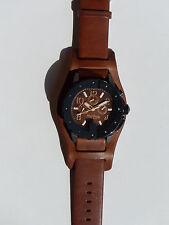 Montre Jean-Paul Gaultier neuve homme, multi-cadran, brac cuir marron 8500203