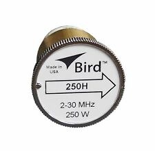 New Bird 250H Plug-in Element 0 to 250 watts 2-30 MHz for Bird 43 Wattmeters