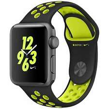 APPLE WATCH NIKE+ 38MM SPACE GRAY ALUMINUM CASE BLACK/VOLT SPORT