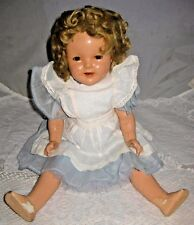 "VINTAGE SHIRLEY TEMPLE COMPOSITION DOLL 20"" MARKINGS ON HEAD AND BACK W/CRAZING"