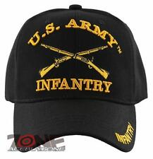 NEW! US ARMY INFANTRY BALL CAP HAT BLACK