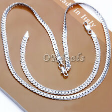 """5MM 925 Solid Sterling Silver Necklace Chain 20"""" inch Fashion Men Women"""