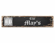 SP0885 The MAY Family name Sign Bar Store Shop Cafe Home Chic Decor Gift