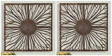 """TWO STATELY 27"""" REAL WOOD BRANCHES DECORATIVE WALL ART RUSTIC NATURAL WOOD FRAME"""