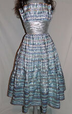 STUNNING VICTOR COSTA *6* METALLIC CORSET STRAPLESS TOP FORMAL PROM GOWN DRESS