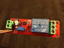 12V Delay Timer Switch Adjustable 0 to 10 Second with NE555 Oscillator  A