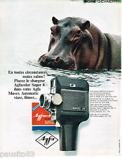 PUBLICITE ADVERTISING 065  1967  AGFA  caméra  MOVEX SV AUTOMATIC SUPER 8