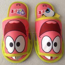 SPONGEBOB SQUAREPANTS PATRICK Plush Slippers Shoes US size 6-10, UK 4-8