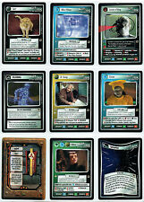 STAR TREK CCG THE FAJO COLLECTION, COMPLETE SET OF 18 CARDS