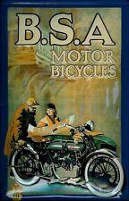 B.S.A Motor Bicycles Blechschild Schild Blech Metall Metal Tin Sign 20 x 30 cm