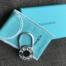 Tiffany Wall Street Stock Market Black Enamel Key Ring