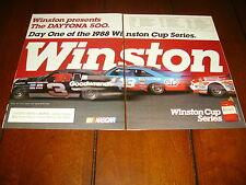 1988 MONTE CARLO SS NASCAR  ***ORIGINAL 2 PAGE AD***