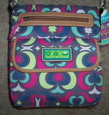 NWT Lily Bloom PADDED Computer Tablet Tote Purse Gray/Pink/Blue/Lime RECYCLED