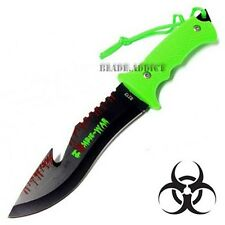 """9"""" ZOMBIE TACTICAL HUNTING SURVIVAL KNIFE GUT HOOK BLADE BOWIE CAMPING NEW"""