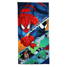 OFFICIAL MARVEL SPIDER-MAN Spiderman Beach Swim Bath Towel 100% Cotton 140x70cm