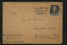 Germany  , Berlin  9N93  on cover to US      SRS0730