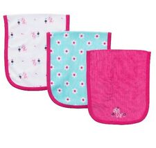 Gerber Baby Girl 3-Pack Terry Burp-Cloths Pink Giraffe