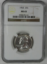 1963 Washington Quarter - Ngc Ms 65 - Multiple Coins Offered - Free Shipping