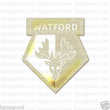 Watford FC 24k Gold Emblem radiation sticker Soccer Souvenir patch epl