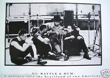 """U2 """"Rattle & Hum"""" Poster - Young Shot Of The Group Sitting In Recording Studio"""