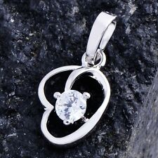 Unique Heart Type Womens Pendant Clear crystal 18K Gold Plated free shipping