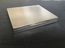 Superb Solid Silver Card / Cigarette Case Engine Turned Box 116g Art Deco Style