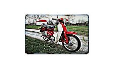 C90 Honda Cub Motorbike A4 photo Retro Bike