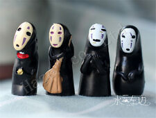 4PCS/Set Spirited Away No Face Man PVC Figure Toys Doll Collection Gift