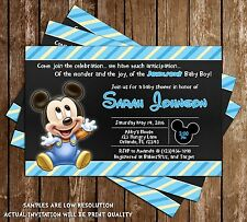 Baby Mickey Mouse - Baby Shower Invitations - 15 Printed W/envelopes
