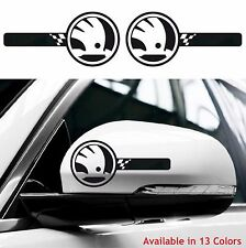 2x SKODA Custom Wing Mirror Body Decals Stickers Rs Octavia Rapid Superb Fabia
