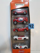 MATCHBOX 1999 COCA - COLA  5 CAR PACK BMW MERCEDES BENZ CHEVY BEL AIR CHEVY VAN