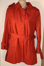 Cyclone Utex Red Belted Coat Size 10 Woments