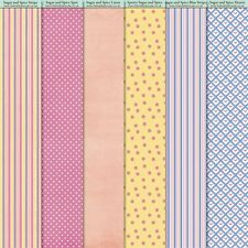 New -6 Sheet Pack -Sugar & Spice Papers - Backing Paper -The Hobby House -250gsm