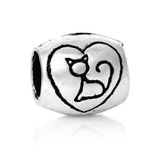 Love My Cat Spacer Charm Bead  For European Charm Bracelets