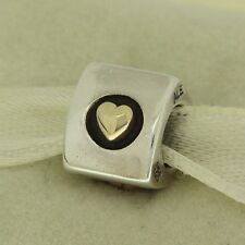 Authentic Pandora 790305 Heart of Gold 14K & Silver  Bead Charm