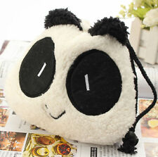 FD3504 Panda Fluffy Pouch Cover Bag For Fuji Instax Mini 7s 8 25 50s Camera Bag^
