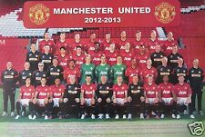 "MANCHESTER UNITED ""2012- 2013 TEAM PHOTO"" POSTER - Soccer, UEFA League Football"
