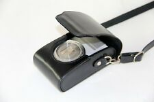 black Leather camera case bag to Canon ELPH 330 HS, 520 HS, IXUS 500 HS 255 HS
