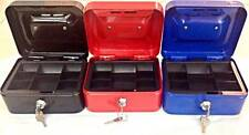 CASH BOX SAFE COIN TRAY LOCKABLE MONEY METAL PETTY CASH BOX Office Supplies