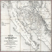 1858 Map of Gadsden Purchase Sonora New Mexico Chihuaua & California