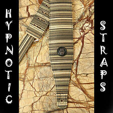 HYPNOTIC STRAPS EARTH GUITAR BASS ACOUSTIC STRAP STRIPES INDIAN GREEN BROWN