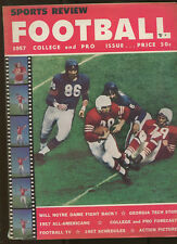 Sports Review Football 1957 College and Pro vol. 17 no. 4 MBX40