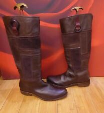 *37* TIMBERLAND BROWN  LEATHER SUEDE RIDING STYLE BOOTS USA 9.5W EU 41 UK 7.5