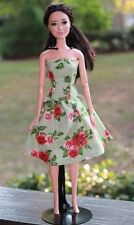 Clothes for Barbie doll. Cotton floral print dress for Dolls.