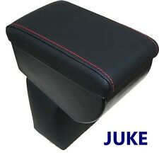 Armrest for NISSAN JUKE premium - BLACK + RED STITCHINGS - MADE IN ITALY
