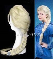 decorative flowers Disney Princess Frozen Snow Queen Elsa cosplay wig