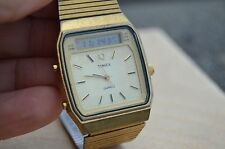 Vintage TIMEX watch dual time analog/digital  - Gold Tone