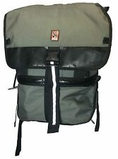Chrome Industries Dually Small Courier Black Gray Cordura Backpack Bag