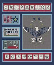 By Yard ~ Modern Scouting Panel Navy ~ Riley Blake Boy Scouts Camping Fabric